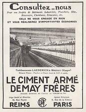 PUBLICITE   CIMENT ARME DEMAY FRERES MOUSSAY VOSGES   AD  1926 -1H