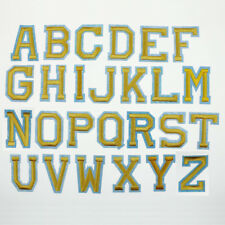 26 Alphabet Letter Embroidered Yellow Patch Sewing Applique Iron on Badge Craft