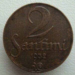 Latvia 2 Santimi 1932 Bronze Coin S3