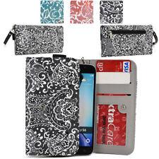 Ladie's Convertible Paisley Smartphone Wallet Cover & Wristlet Clutch ESMLP2-16