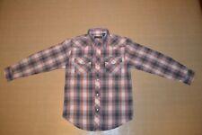 Boys Roper Western Pearl Snap Long Sleeve Shirt Boys Size L 12 14 Item 144