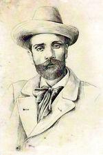 Portrait of Isaac Levitan Modern Russian postcard