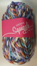 Sirdar Squiggle Super Chunky #606 Splatter White Pink Blue Peach Mix