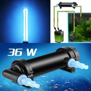 AC 220-240V Aquarium UV Sterilizer Lamp Water Cleaner Purifier Germicidal Light