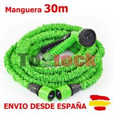 MANGUERA EXPANDIBLE 30 METROS RIEGO JARDIN CAMPING EXTENSIBLE BARCO VISTA EN TV