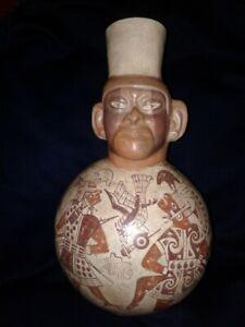 MOCHE MOCHICA PRECOLUMBIAN  GENUINE POTTERY  CEREMONIAL COMBAT , CHIMU, CHAVIN
