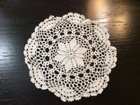 Vintage Doilie Hand Made Doily Crochet Table Lace Dresser Scarf Staging N513