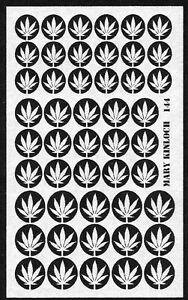 Dollhouse miniature DIY laser cut 1/12th scale PAPER marijuana leaves #144