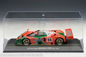 1991 MAZDA 787B LeMANS TEST CAR #55 1:18 by AUTOART #89141 NEW WITH DISPLAY CASE