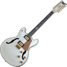 Schecter Wanye Hussey Corsair-12 Semi-Hollow Electric Guitar Ivory