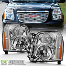 Chrome 2007-2014 GMC Yukon Denali XL1500 2500 Headlights Headlamps Left+Right