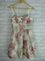 ALANNAH HILL Dress Sz 10 Pink, green floral print Biney Rose's Story