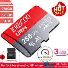 New 256Gb/128Gb/64Gb Micro Sd Memory Card Class10 4K Flash Tf Card with Adapter