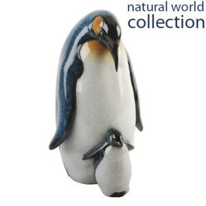 Natural World Animal Polished Stone Effect Mother & Baby Penguin Gift Ornament