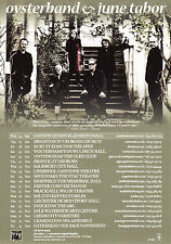 Oysterband & June Tabor '2011 UK REUNION TOUR' A5 Flyer - New