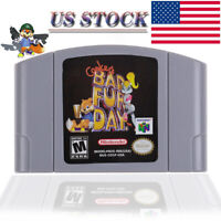 Conker Bad Fur Day For Nintendo 64 Video Game Card Cartridge For N64 Console US