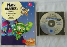 Math Blaster In Search Of Spot - Disc And Manual - 1994 Davidson - Pc Win/Mac