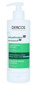 VIchy DERCOS Anti-Dandruff DS Shampoo for Normal to Oily Hair 390ml, 13.2oz