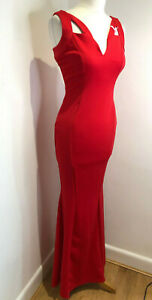 BNWT With Love Jessica Ruby dress red fishtail maxi gown event dress 10 NEW