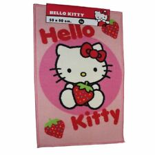 HELLO KITTY CERCLE POINT Fraise chambre rectangulaire Tapis Carpette 50x80cm