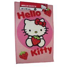 Hello Kitty círculo Spot Fresa Rectangular bedroom carpet alfombra Mat 50x80cm