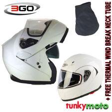 Casques modulables blancs moto pour véhicule