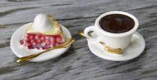Vintage ARCADIA MINIATURE Salt & Pepper Shakers Pie Alamode and Coffee
