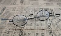 Antique early Victorian steel spectacles