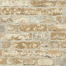 RMK9037WP Stuccoed Brown Brick Peel and Stick Decor FREE SHIPPING
