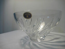 Bohemia Crystal bowl with swirl leaves pattern
