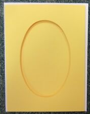 5 Double Fold 8x6 inch Craft Cards & Envelopes - Oval Aperture - Yellow