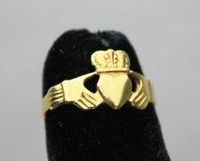 Irish Claddagh 18K Yellow Gold Ring - Size 5 - 2.3 Grams