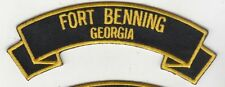 "Fort Benning Ga 4"" rocker tab embroidered patch"