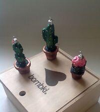 Bombki Little Cacti set of three Christmas glass baubles