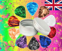 25 Pcs + Tin Guitar Plectrums Pick Pic HIGH QUALITY + storage tin CHEAPEST gift