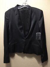 Theory Women's Sz 10 Black Viscose Dress Jacket Blazer NWT $375