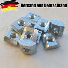 10x Nutensteine Nut 5 / 6  Profiel mit Steg, Schrauben M5, NEU 3D Drucker CNC V2
