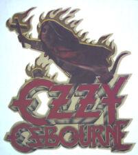 OZZY OSBOURNE T-SHIRT IRON-ON VINTAGE ROCK BAND VINYL RAREST 1980s RANDY RHODES