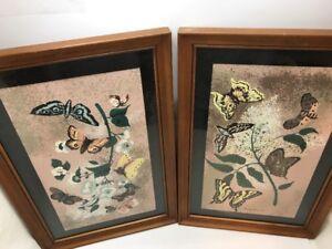 Vtg. Margo Alexander of Calif. Original Tree Butterfly Art Print