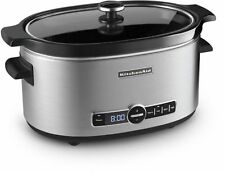 KitchenAid Stainless Steel 6-Quart Slow Cooker Modern Kitchen Appliance