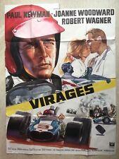 Virages (Affiche cinéma EO 1969) Winning - Paul Newman, Woodward, OUSSERKO