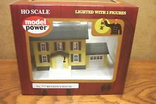 MODEL POWER/MRC BENSON'S HOUSE BUILT-UP HO SCALE BUILDING LIGHTED