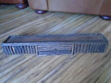 "Wall Shelf Suede Top BirchBark 28"" Wood Rustic Country Primitive Display Cabin"