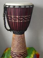 SALE - PRO 20 x 11 Wave Carving Djembe Bongo Drum M6 + FREE COVER