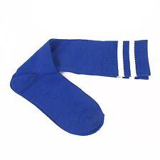 chaussettes  / mi-bas de football - MADSPORT -  BLEUES -bandes Blanches en 33/36