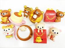 2017 Rilakkuma McDonald's Happy Meal Toys Completed 8 PCS