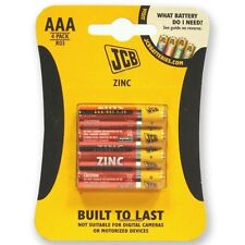 4 Pack Heavy Duty AAA Zinc Chloride JCB Batteries for TV Remote Controls