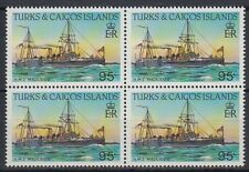 Turks & Caicos 1983 ** Mi.668 A Bl/4 perf.14 Schiffe Ships [sq5833]