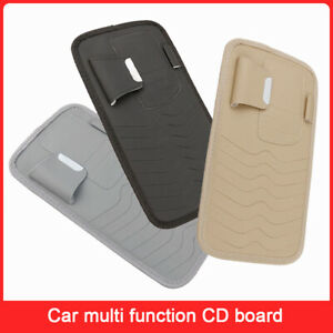Car Sun Visor Organizer CD DVD Disc Leather Storage Case Sun Visor