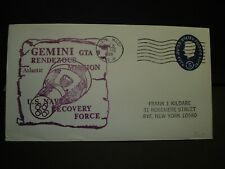 USS WASP CVS-18 Naval Cover 1966 GEMINI SPACE Cachet Navy RECOVERY FORCE